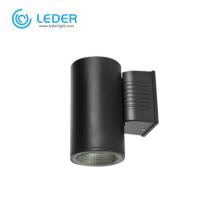 Lâmpada de parede externa LEDER impermeável 5W * 2 preta