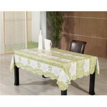 Toalha de mesa impressa do PVC com revestimento protetor do Nonwoven / apoio de Spunlace no rolo Tj0086A