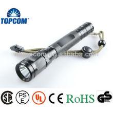Lampe de poche led à haute puissance en aluminium avec 2 * piles AA ultra lumineuses