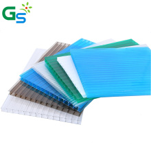 Guansu Factory Price Green Color Building Material Pc Hollow Sheet Polycarbonate Skylight Roofing Sheet