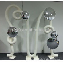 acrylic mirror with convex or plane mirror face for decoration