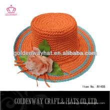 Chapéu de palha de praia dobrável na China
