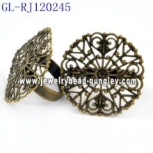 Fashionable copper jewelry findings ring bases