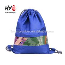Sac à dos en polyester de qualité imperméable avec fenêtre en pvc