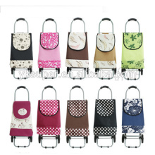 2015 promotion portable folding shopping trolley bag with wheels , shopping trolley bag wholesale