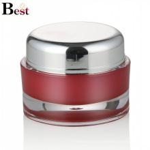 envase cosmético 50ml tarro de plástico acrílico rojo para crema