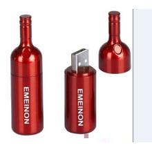 Garrafa de vinho criativa USB Flash Memory