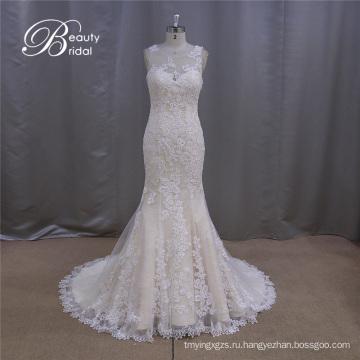 Великолепные упал кружева свадебное платье шаблоны