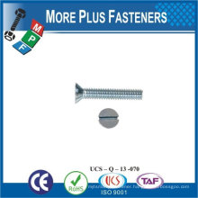Made in Taiwan high quality stainless steel machine screw slotted screw flat head screw