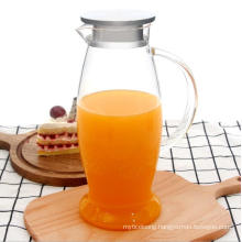 Customized 1500ml Heat-Resisting Glass Water Beverage Kettles for Hotel and Home Use.