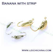 Winter Is Coming Tungsten Ice Jig Banana with Strip