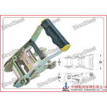 """High Quality 1-1/2""""-38mm Wide Rubber Handle Ratchet Buckle"""