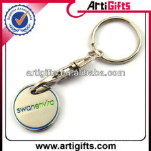 2013 Shopping cart trolley coin keychain