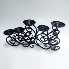 5 tier Wedding Decor Metal negro Portavelas
