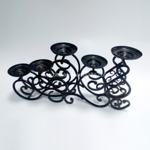 5 Tier Wedding Decor Metal Black Candle Holder