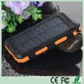 Carregador duplo impermeável do banco das energias solares do telefone móvel de USB com luz dupla do diodo emissor de luz (SC-6688)