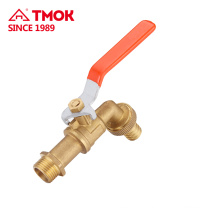 factory direct normal temperature cw617 material natural brassy bibcock with safety structure in china