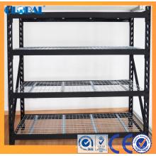 Support de stockage industriel enduit de poudre avec le platelage galvanisé de fil