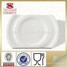 10.5 plats blancs faits sur commande de plat de dîner de céramique pour des restaurants