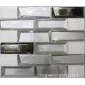 Golden Mix White Clolor Glass Crystal Mosaic