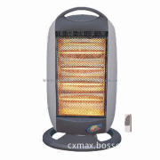 Halogen heater with remote control