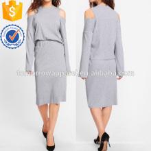 Open Schulter Ribbed Tee & Rock Set Herstellung Großhandel Mode Frauen Bekleidung (TA4105SS)