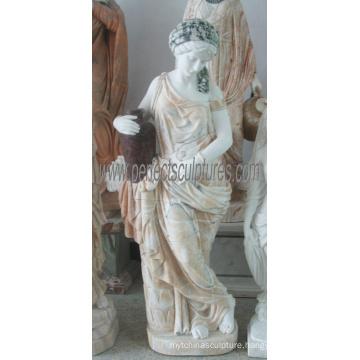 Mix Color Marble Sculpture Women Figure Statue for Garden Stone (SY-C1341)