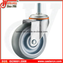 Gray Rubber Supermarket Casters with TPU or TPR Wheel