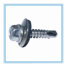 Hex-Unterlegscheiben-Kopf-Selbstbohrschraube mit Plastikunterlegscheibe (DIN7504K / ISO15480)