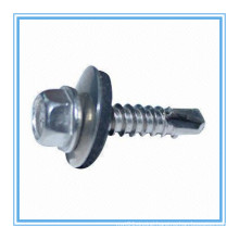 Hex Washer Head Self Drilling Screw with Plastic Washer (DIN7504K/ISO15480)
