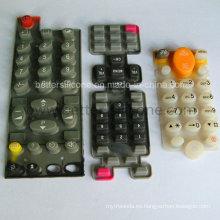 Telclado numérico elástico de la goma de silicona de la pantalla de seda del elastómero