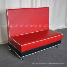 Red Sofa Booth with Wooden Fram for Restaurant (SP-KS313)