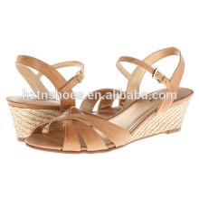 Женская мода Клин обувь Низкая цена Espadrille Высокий каблук насосы для дам