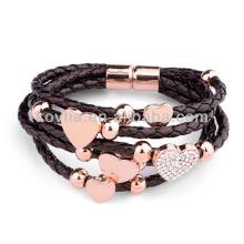 Italian fashion braided bracelet leather bracelet