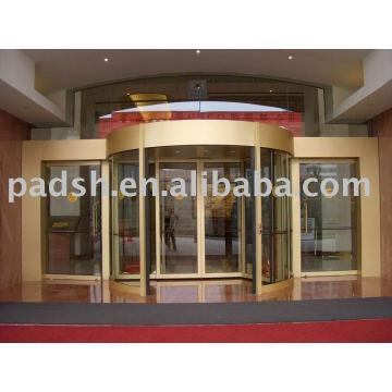 Porta giratória automática de 2 asas de luxo Escolha de qualidade