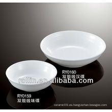 Plato de condimento de cerámica