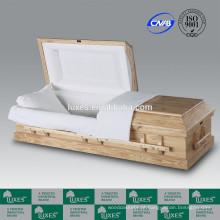 Por atacado caixão camas estilo americano o Clarion LUXES caixão de madeira on-line