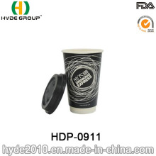16oz Double paroi en papier tasse à café avec couvercle (HDP-0911)