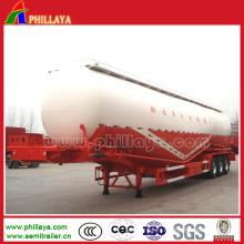 Remorque de bateau-citerne de transport de ciment de poudre / transporteur de vraquier de ciment