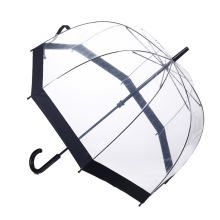 Manual abertos borda preta Straight Lady Umbrella (BD-67)
