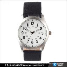 Relojes de moda reloj de cuero simple mens para mujer baratos
