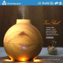 Difusor recargable del aceite esencial del humectador del grano de madera 600ml
