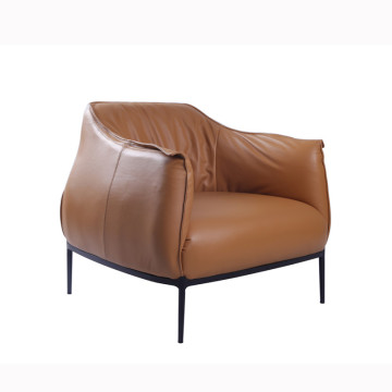 Modern Archibald Leather Accent Chair réplica