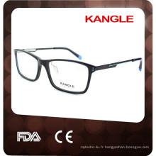 2017 Dernière Mode Hommes acétate lunettes optiques et lunettes lunettes