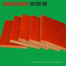 Feuille de plastique bakélite orange