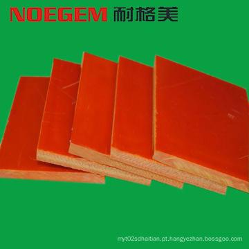 Folha de plástico de bakelite de laranja