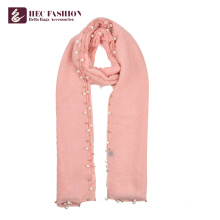 HEC Manufacturer Custom Made Polyester Material Warm Lady Scarf