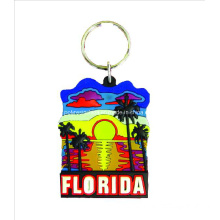 Florida Keychain Souvenir Gifts, Customized PVC Keyring Tourist Decoration