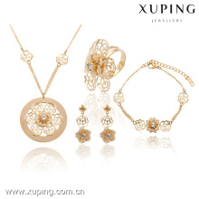 63737-Xuping Fashion Wedding Flower Jewelry Classic Jewelry Set para mujeres