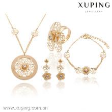 63737-Xuping elegante da flor do casamento jóias conjunto de jóias clássico para as mulheres